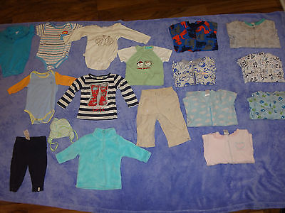 baby boy clothes size 0 6-12 months 17 items bulk