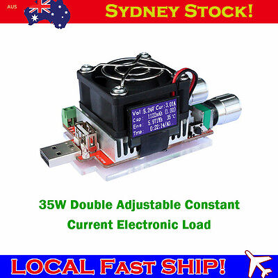 35W Double Adjustable Constant Current Capacity Battery Tester Electronic Load