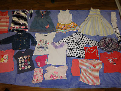 baby girl clothes size 1 12-18 months 24 items bulk dresses jackets tops pyjamas