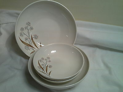 "Syracuse China Carefree Windswept Serving Bowls (9"" and 8"")and Soup/Cereal Bowls"
