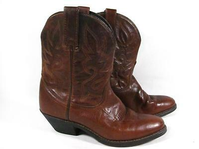 Laredo Short Western Cowboy Boot Women size 8 Brown Leather