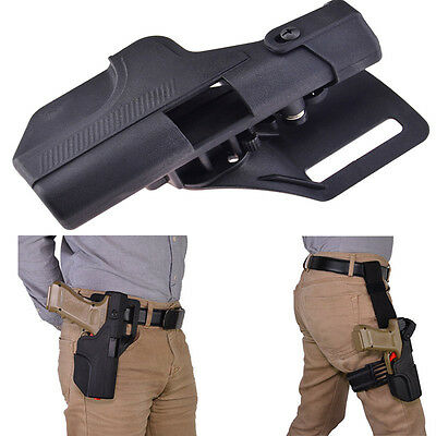 Quick Release Automatic Loading and Locking Waist/Thigh Holster for Glock