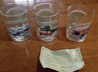 3 Hess Toy Truck Glasses part of a series