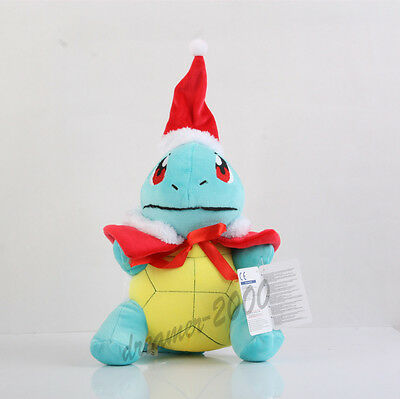 Pokemon Center Christmas Squirtle Plush Doll Soft Figure Toy Xmas Version Gift