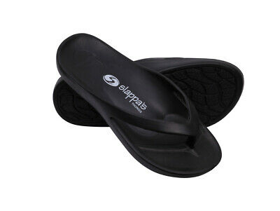 Black Slappa's Arch Support Thongs/ortho/Plantar Fasciitis Relief