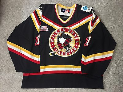 WILKES BARRE SCRANTON penguins GAME WORN HOCKEY JERSEY used TALLAS bruins 9901394e0