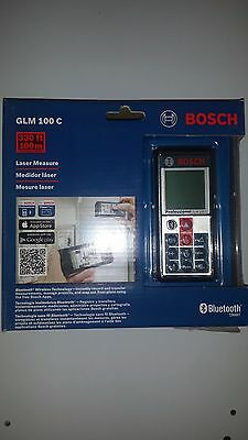 Bosch GLM100C Bluetooth Enabled 330' (100M) Laser Distance and Angle Measurer