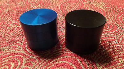 SMALL MINI Grinder Lot of 2, Metal (BLUE + BLACK) 4pcs  40mm NEW