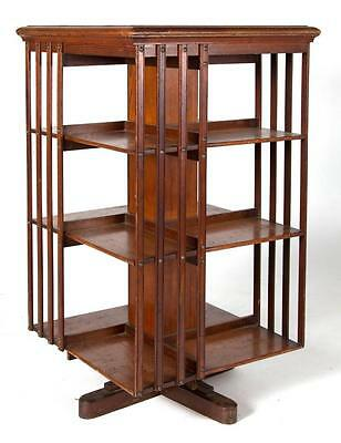 ARTS AND CRAFTS THREE-TIERED REVOLVING BOOKCASE Lot 523