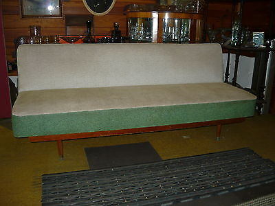 Classic Retro 1950s 60s Folding CLICK CLACK Lounge Sofa ~ Original Fold out Bed