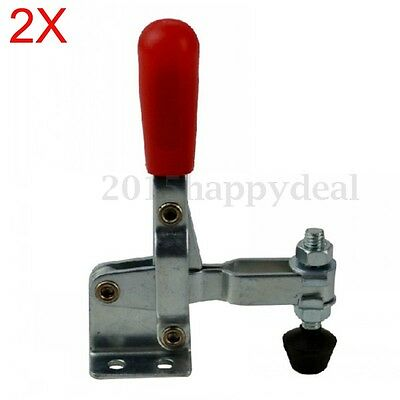 2x Red Capacity Quick Handle Vertical Hand Tool Toggle Clamp 100kg 220LBS 102B