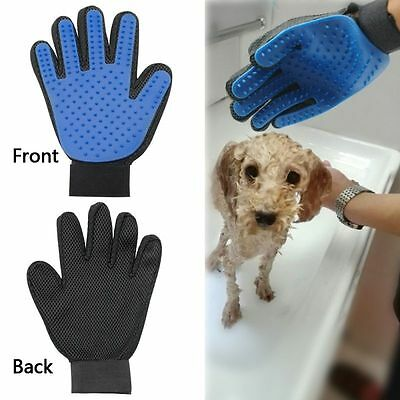 Pet Deshedding Cleaning Brush Glove Dog Hair Massage Grooming Groomer Right Hand
