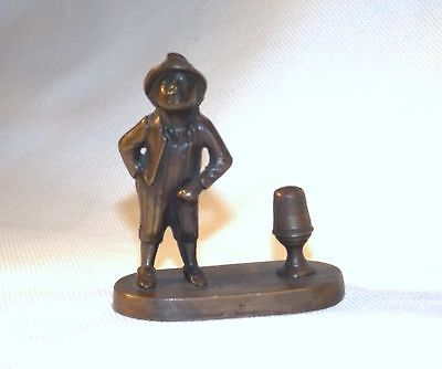Antique Sewing Thimble Holders of Little Man with nice Hat