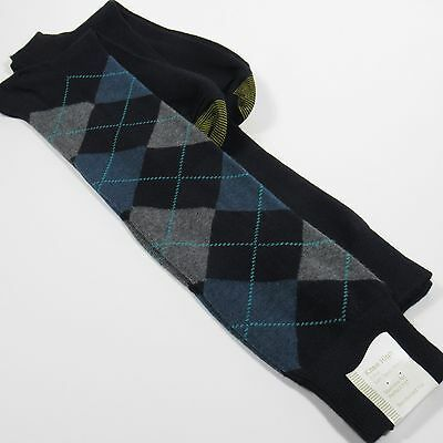 GOLD TOE Women's Argyle Knee-High Socks GRAY & BLUE/NAVY BLUE One Size NWT