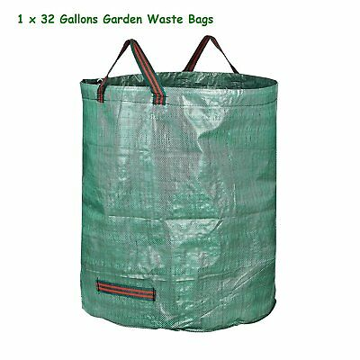 32 Gallons Garden Leaf Waste Bags Heavy Duty for Reuseable Gardening Yard Lawn