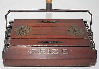 """Bissell """"Prize"""" Model -Antique Wooden Sweeper From Late 1880's  **SALE**"""
