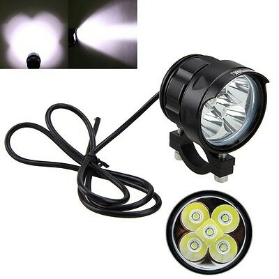 5000LM 5x XM-L2 50W LED Moto Boat Spot Driving Headlight Fog Light Lamp 4V-84V