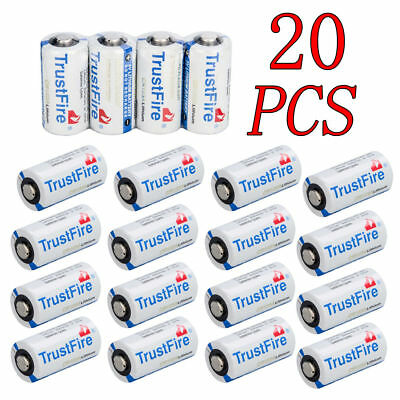 TrustFire Flashlight 85177 CR123A 3 Volt Lithium Batteries, 20-Pack Exp 2027 USA