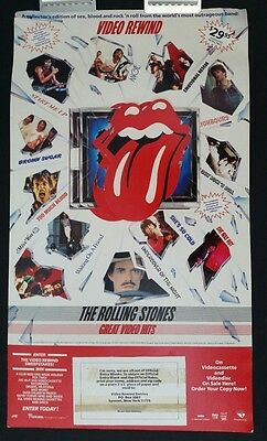 THE ROLLING STONES Countertop 3D Display VIDEO REWIND 1984 vtg sweepstakes promo