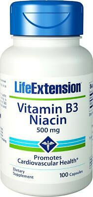 Life Extension, Vitamin B3 Niacin, 500mg, 100 Kapseln