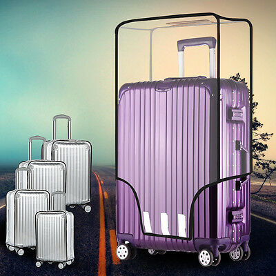 Clear PVC Waterproof Luggage Box Cover Protector for Suitcase 20''22''24''26''