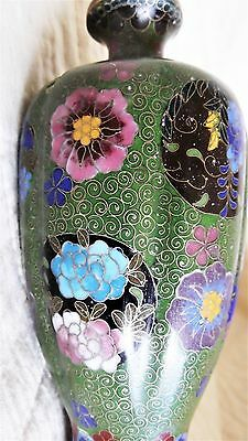 1 VERY Nice Antique Cloisonne Japanese Vase-Delicate Wires-intricate details