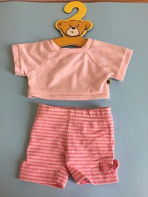 Build A Bear Outfit Pink Shorts & T Shirt
