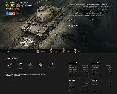 World of tanks, WOT EU, NA, ASIA, Collectors tank T95E2. Done in 9-12 days.