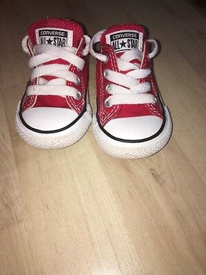 Size 3 Infant Red Converse