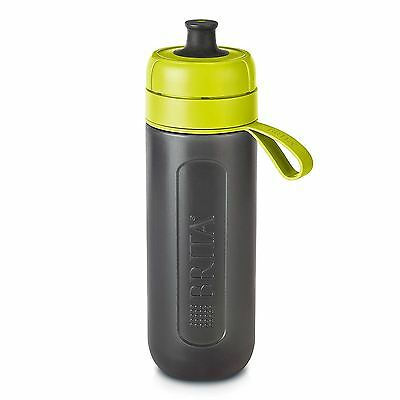 BRITA fill&go Active Water Filtration Bottle 0.6L with 1 MicroDisc Filter - Lime