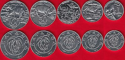 "Katanga set of 5 coins: 1 - 100 francs 2017 ""Animals"" UNC"
