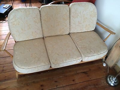 Vintage Ercol 3 seater sofa