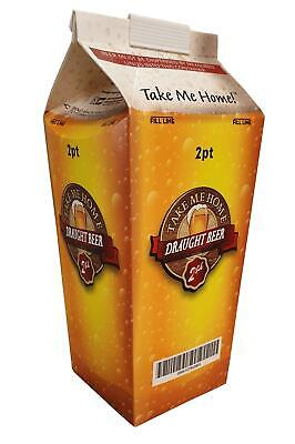 2 pint Printed Beer Carton x 100 Disposable Hoppers