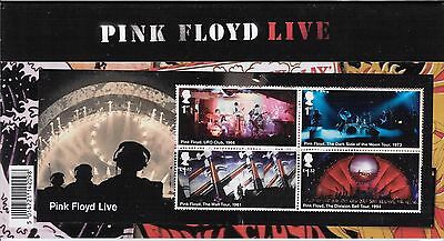 2016 Pink Floyd Stamps including Mini Sheet in Presentation Pack Pack no 528.