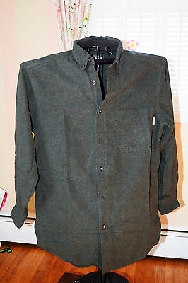 WOOLRICH Green Button Down Long Sleeve Shirt Men's M 100% cotton