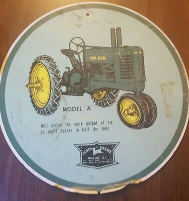 vintage John Deere Model A sign. original