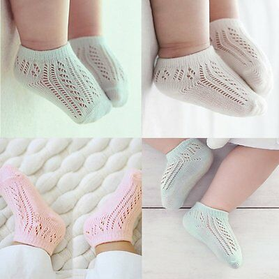 AU Infant Newborn Baby Solid Cotton Cute Socks Toddler Boy Girl Soft Sock 0-3 Y