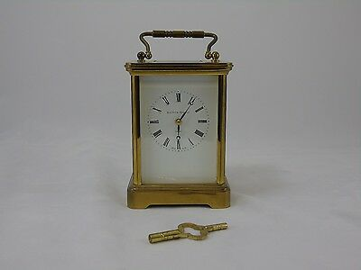 Brass Carriage Clock By Matthew Norman Working with Key 1752 Movement