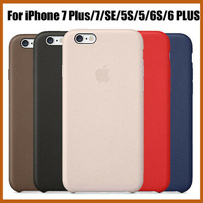 New Apple PU Leather Case Cover For Iphone 7 SE 5S 6S Plus