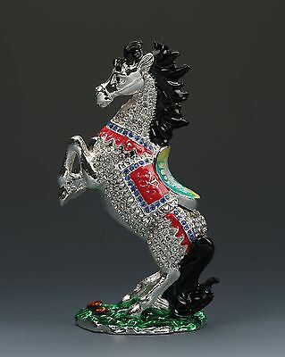 Chinese Cloisonne Hand-carved Horse statues G144