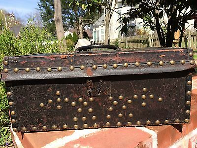 French Fur Traders trunk  late 1700's Document box