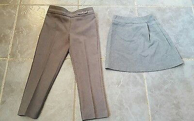 Girls age 3-4 years grey school trousers and skirt