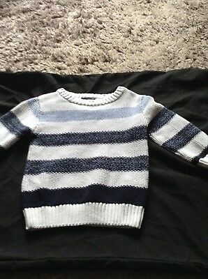 Lovely Next baby boy's jumper worn once 9-12 mths