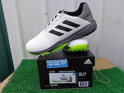 f5801d23e Adidas Golf Adipower Bounce Golf Shoes White Black   Yellow US Size 13 Med  NEW
