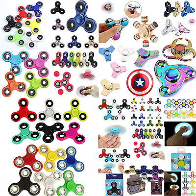 Fidget SPINNER Finger EDC Anti Stress ADHS Konzentration #LED Glow Metall ALU #