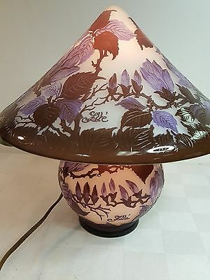 Galle cameo art glass lamp made in France late 20th C.