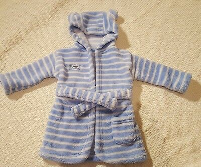 Baby boys 0-6 months dressing gown