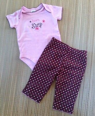 Baby Essentials Infant Girl 2 Pc Outfit Size3-6 Months. Pre-Owned