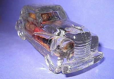 vintage Clear Glass Automobile Candy Container