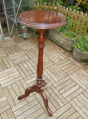 Mahogany Torchere Plant Stand With Tripod Feet